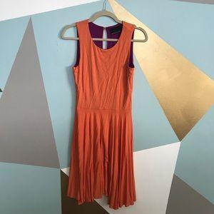 Cynthia Rowley orange midi dress